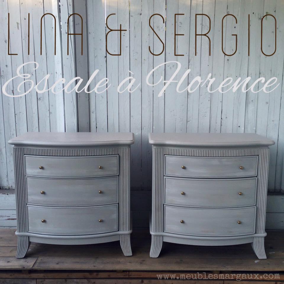 Lina et Sergio - Tables de chevet